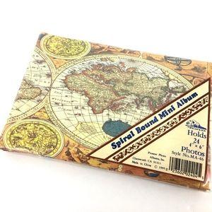 Vintage Mini Photo Album Antique Maps Atlas Globes